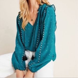Anthropologie NWT Dolan Lucille tassel blouse